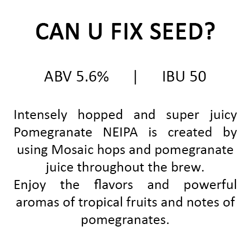 Uncle Brew Can U Fix Seed? Estonian Craft Beer